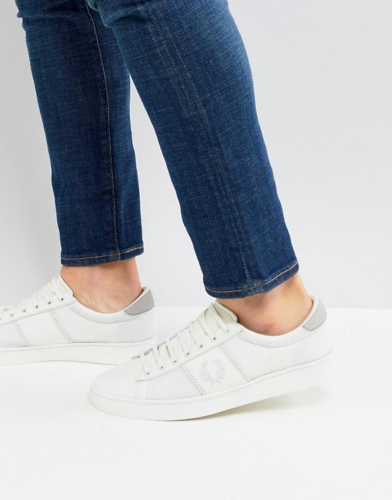 フレッドペリー メンズ スニーカー シューズ Fred Perry Spencer Mesh Leather Sneakers In White 760