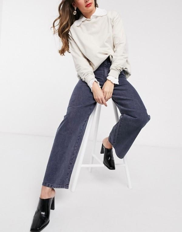エイソス レディース デニムパンツ ボトムス ASOS DESIGN High rise 'relaxed' dad jeans in washed navy Washed navy