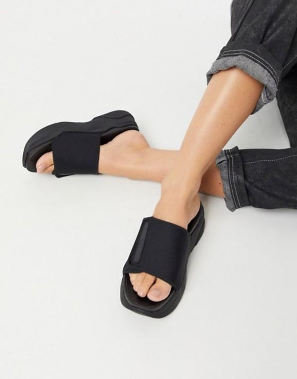 バガボンド レディース サンダル シューズ Vagabond Lori adjustable strap chunky slides in black Black/black