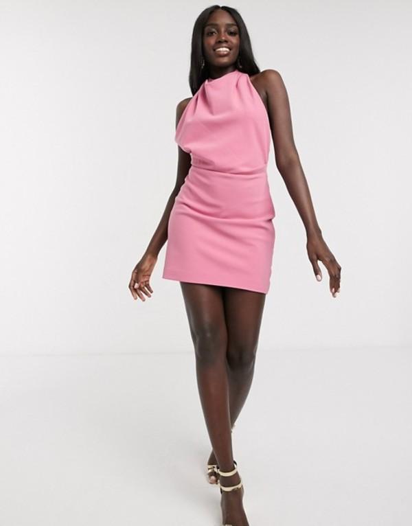 ファインダーズ キーパーズ レディース ワンピース トップス Finders Keepers mae backless halterneck mini dress in pink Pink