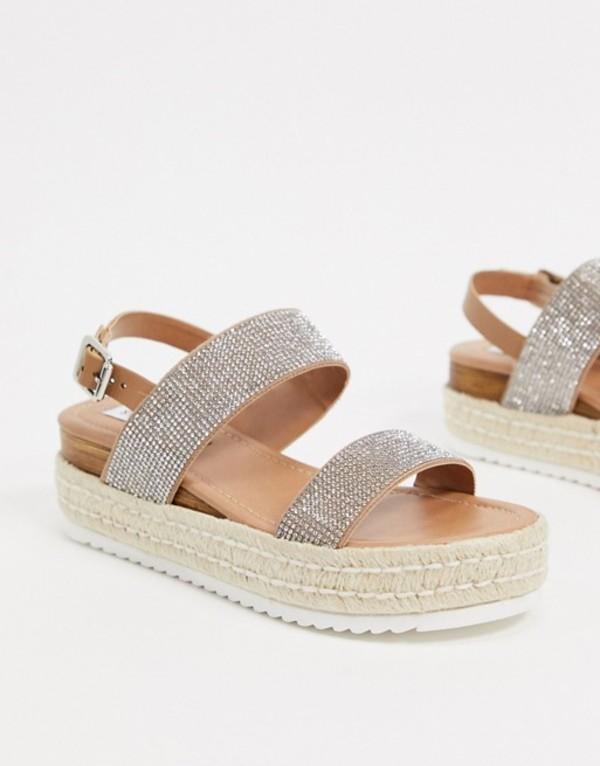 スティーブ マデン レディース サンダル シューズ Steve Madden Catia flat sandals in rhinestone Rhinestone