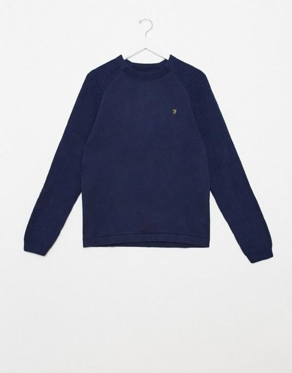 ファーラー メンズ ニット・セーター アウター Farah Bouler crew neck sweater Navy