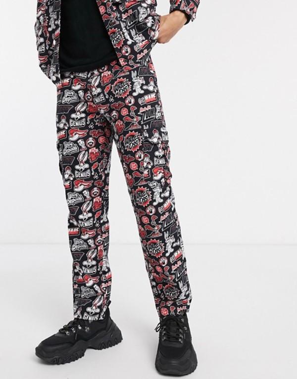 プルアンドベアー メンズ カジュアルパンツ ボトムス Pull&Bear looney tunes pants two-piece Multi