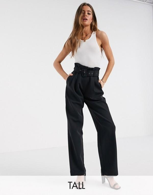 ワイエーエス レディース カジュアルパンツ ボトムス Y.A.S Tall Dinah high waisted belted pants Black