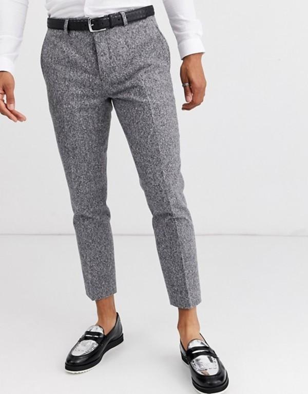 ツイステッド テイラー メンズ カジュアルパンツ ボトムス Twisted Tailor cropped tapered pants in gray flec Gray