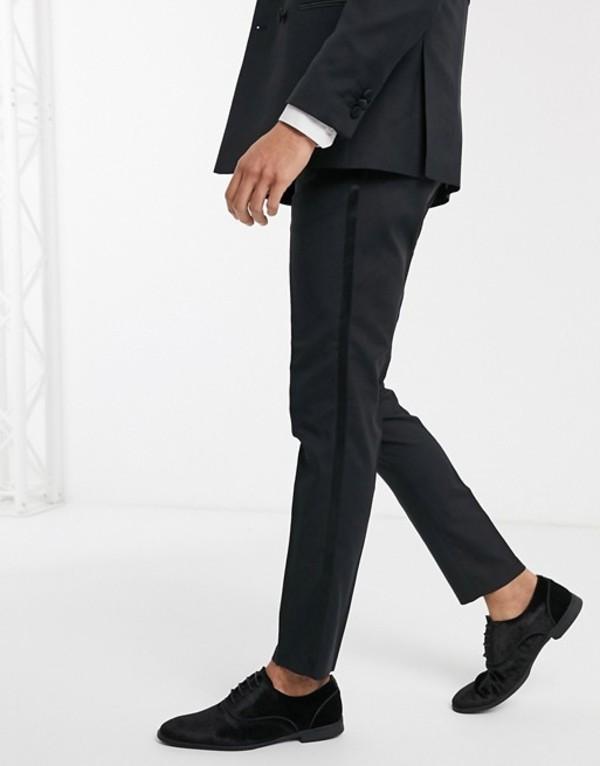 ジャック アンド ジョーンズ メンズ カジュアルパンツ ボトムス Jack & Jones Premium tux suit pants in black Black