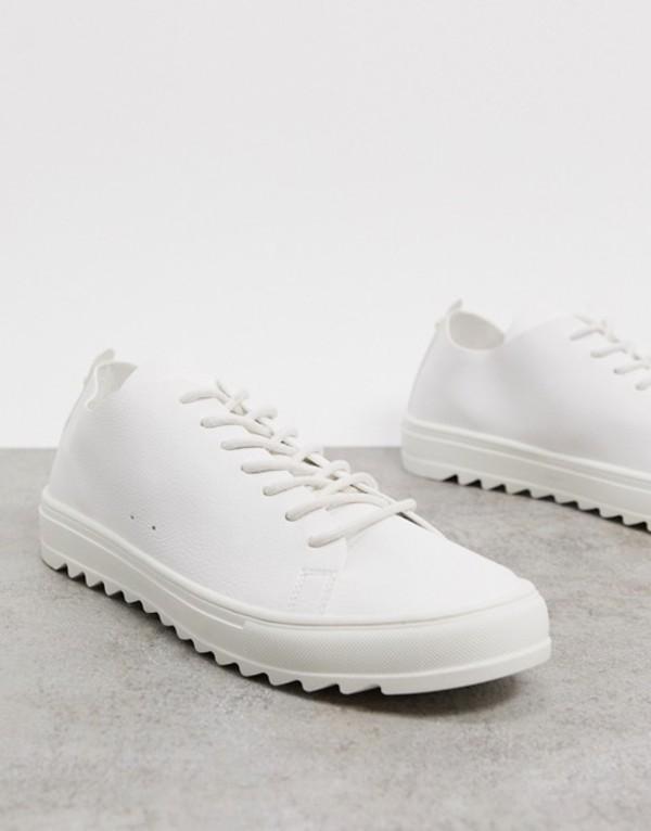 white White メンズ プルアンドベアー sneaker Pull&Bear in シューズ スニーカー