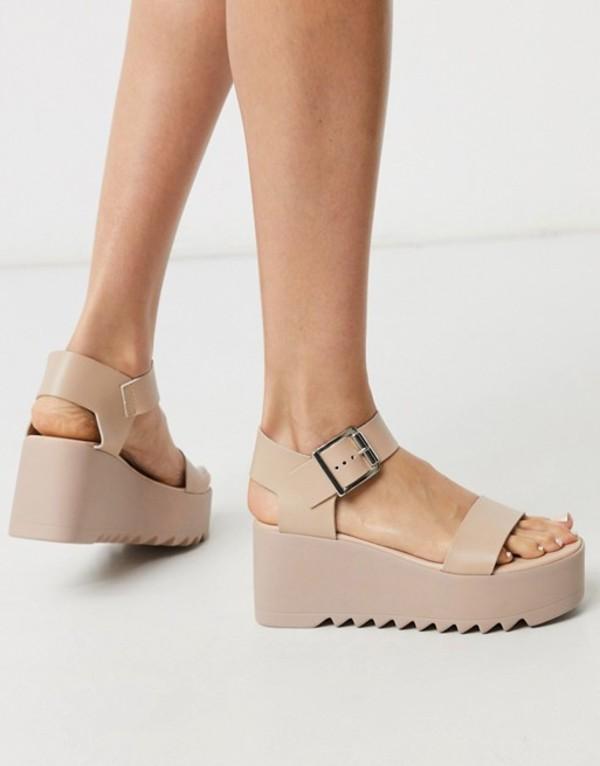 スティーブ マデン レディース サンダル シューズ Steve Madden Lake chunky flatform sandal in blush leather Blush leather