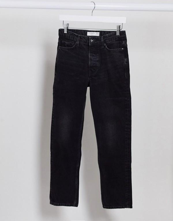 トップマン メンズ デニムパンツ ボトムス Topman straight leg jeans in black Black
