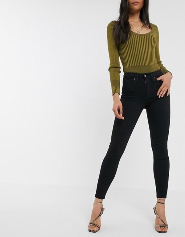 トップショップ レディース デニムパンツ ボトムス Topshop Jamie skinny jeans in black Black