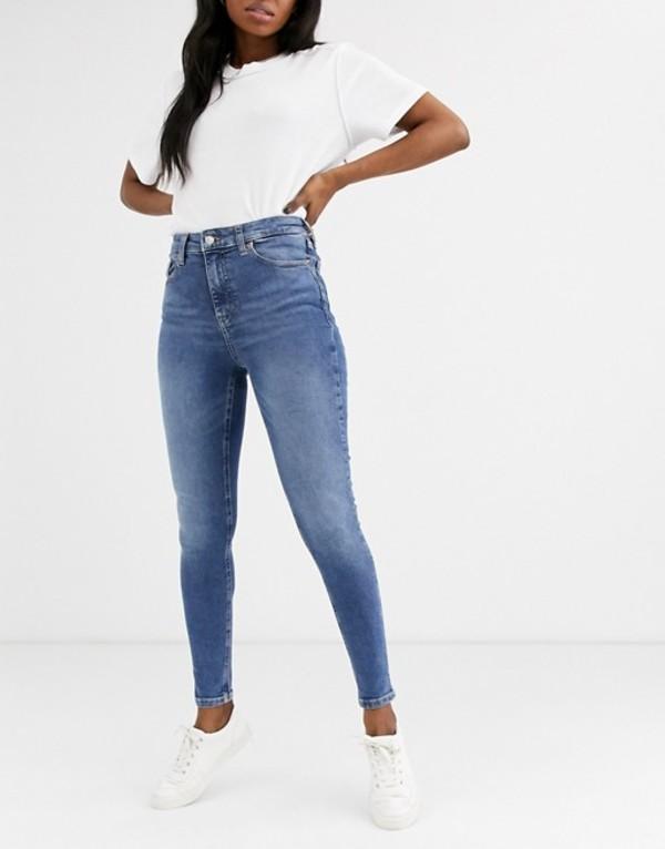 トップショップ レディース デニムパンツ ボトムス Topshop Jamie skinny jeans in mid wash Mid denim
