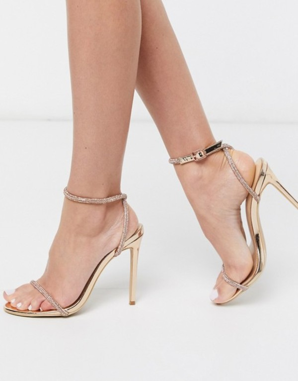シミ レディース サンダル シューズ Simmi London Samia embellished heeled sandals in rose gold Rose gold
