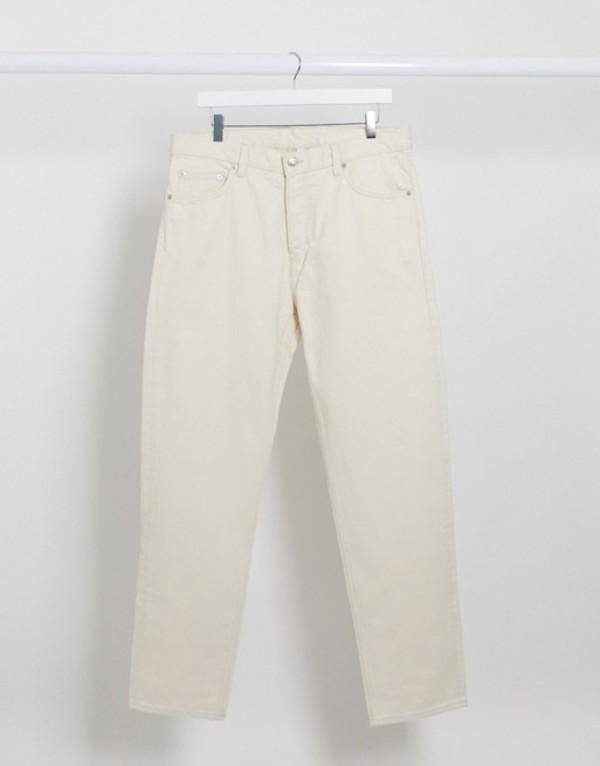 ウィークデイ メンズ デニムパンツ ボトムス Weekday Barrel loose fit jean in cream Cream