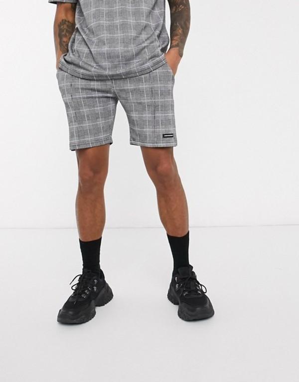 グッドフォーナッシング メンズ ハーフパンツ・ショーツ ボトムス Good For Nothing check shorts with toggle in gray Gray
