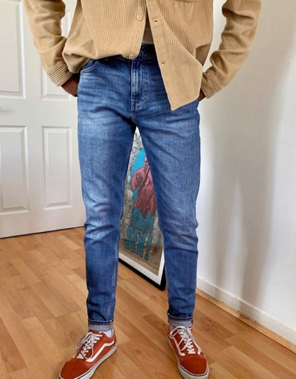 ウィークデイ メンズ デニムパンツ ボトムス Weekday Cone jeans in marfa blue Blue