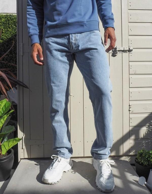 ウィークデイ メンズ デニムパンツ ボトムス Weekday Pine jeans in summer blue Summer blue
