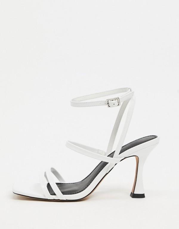 エイソス レディース サンダル シューズ ASOS DESIGN Hailee mid-heeled sandals in white White