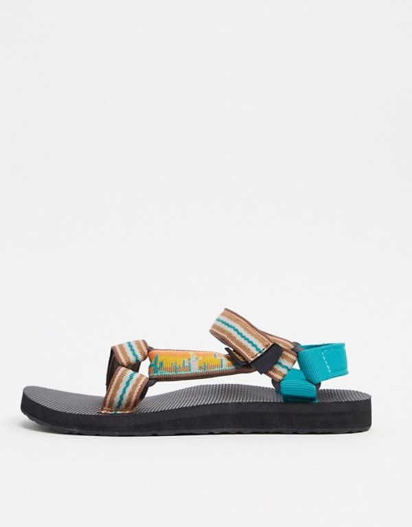 テバ レディース サンダル シューズ Teva Original Universal sandals in cactus sunflower print Cactus sunflower