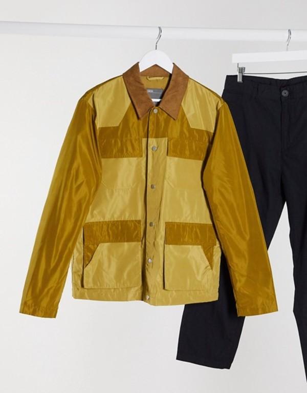 エイソス メンズ ジャケット・ブルゾン アウター ASOS DESIGN harrington jacket with color block and utility pockets Sand:ReVida 店