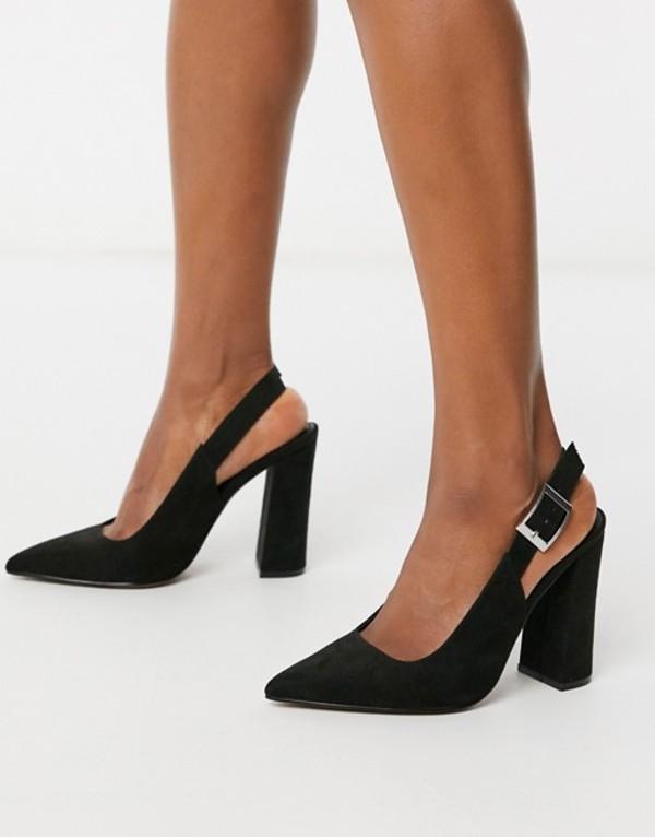 block Black black ASOS Planet slingback heels in DESIGN レディース high エイソス シューズ ヒール
