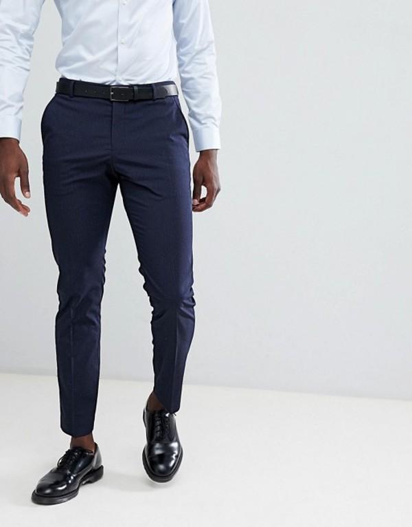 セレクテッドオム メンズ カジュアルパンツ ボトムス Selected Homme Slim Fit Suit PANTS In Navy Pinstripe Navy blazer