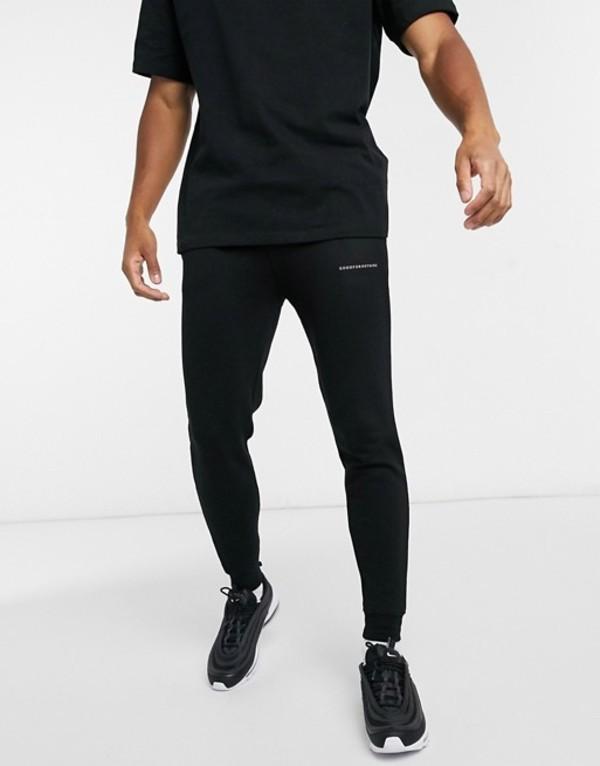グッドフォーナッシング メンズ カジュアルパンツ ボトムス Good For Nothing skinny sweatpants with small logo in black Black