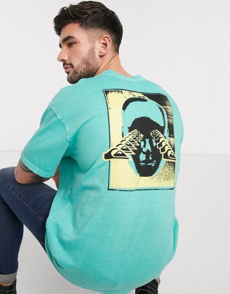 クイックシルバー メンズ シャツ トップス Quiksilver X-Ray Cafe t-shirt in sea blue Sea blue