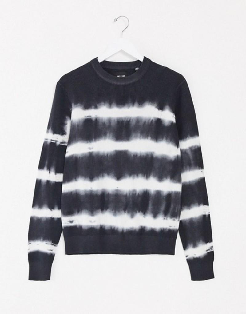 オンリーアンドサンズ メンズ ニット・セーター アウター Only & Sons sweater in tie dye navy Dress blues