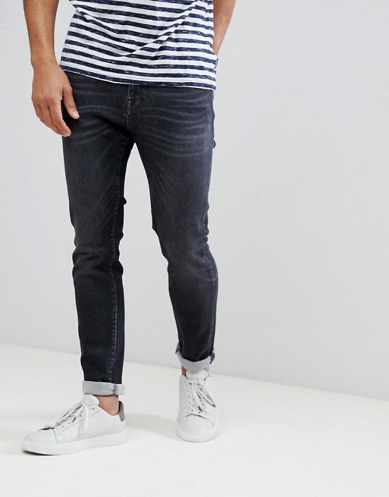 セレクテッドオム メンズ デニムパンツ ボトムス Selected Homme Super Stretch Slim Fit Jeans Made In Italy Black 1433