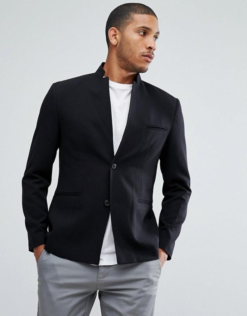 セレクテッドオム メンズ ジャケット・ブルゾン アウター Selected Homme Slim Notch Blazer Black
