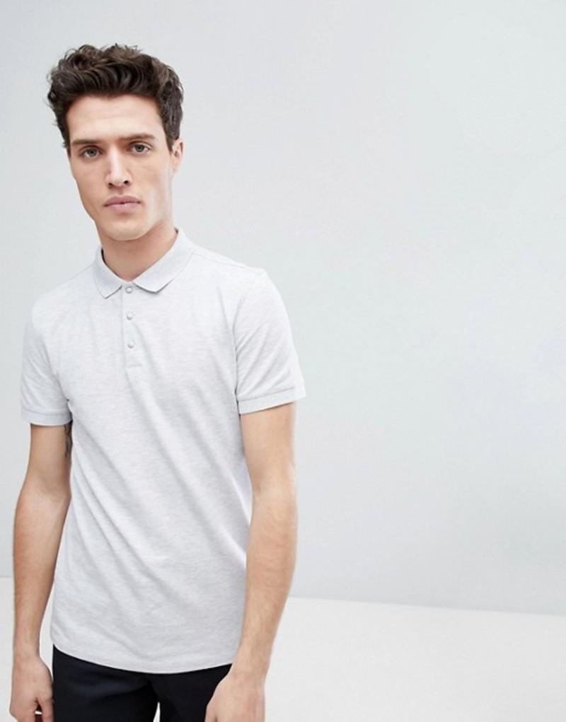 セレクテッドオム メンズ ポロシャツ トップス Selected Homme Polo In Marl Gray violet