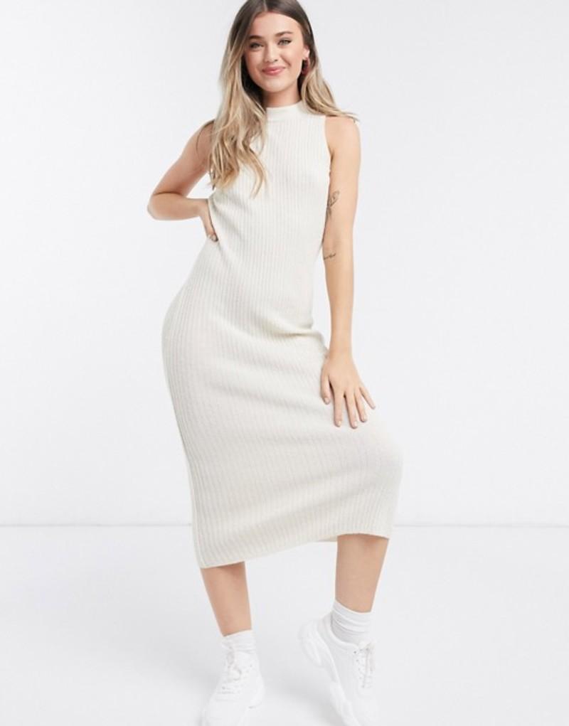 エイソス レディース ワンピース トップス ASOS DESIGN knitted dress with open back in oatmeal Oatmeal