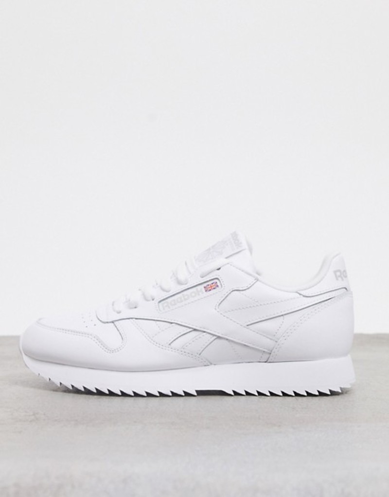 リーボック メンズ スニーカー シューズ Reebok Classics leather Ripple sneakers in white & black White/black/primal r