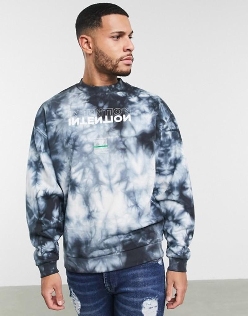 エイソス メンズ シャツ トップス ASOS DESIGN oversized washed sweatshirt with intention print Multi