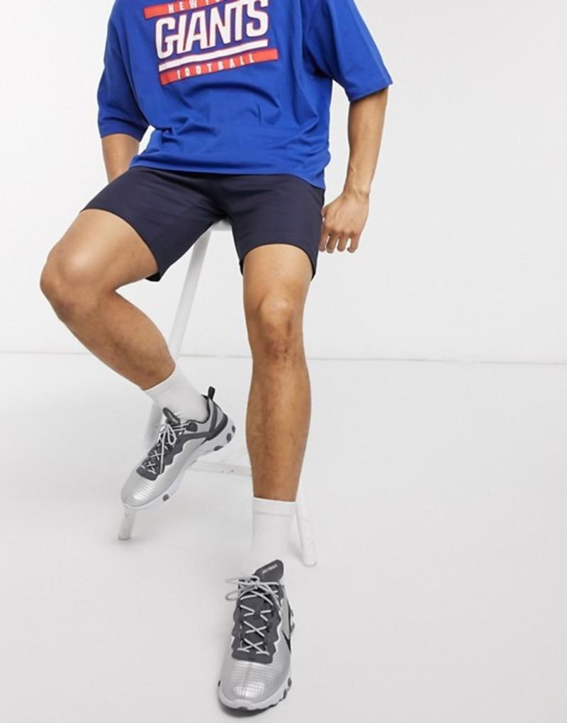 トップマン メンズ ハーフパンツ・ショーツ ボトムス Topman skinny chino shorts in navy Navy