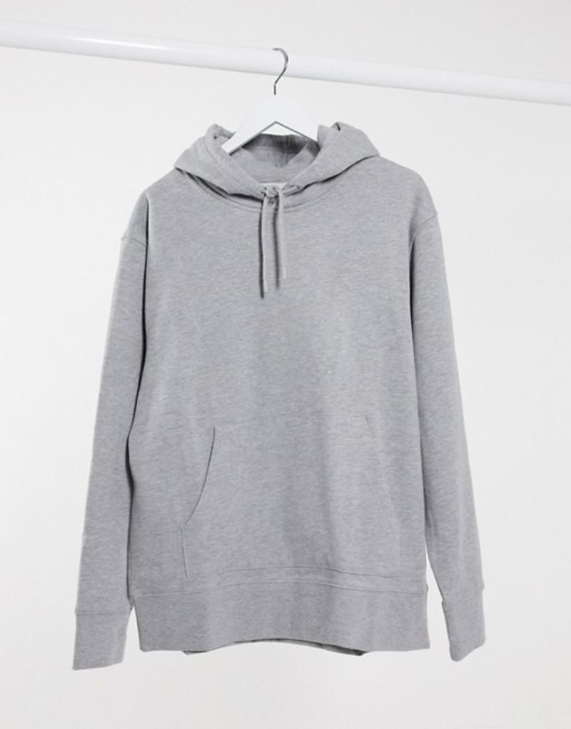 トップマン メンズ パーカー・スウェット アウター Topman overhead hoodie in gray Gray