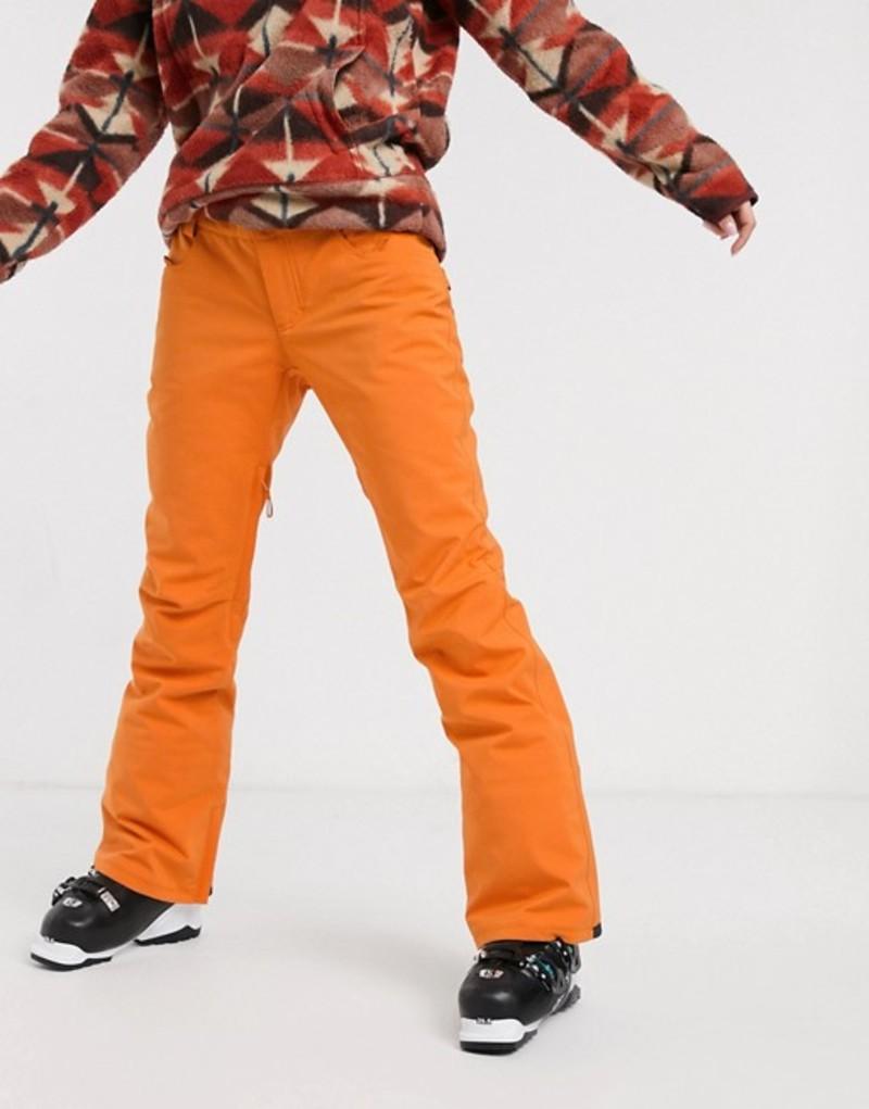 ビラボン レディース カジュアルパンツ ボトムス Billabong Terry ski pant in orange Orange