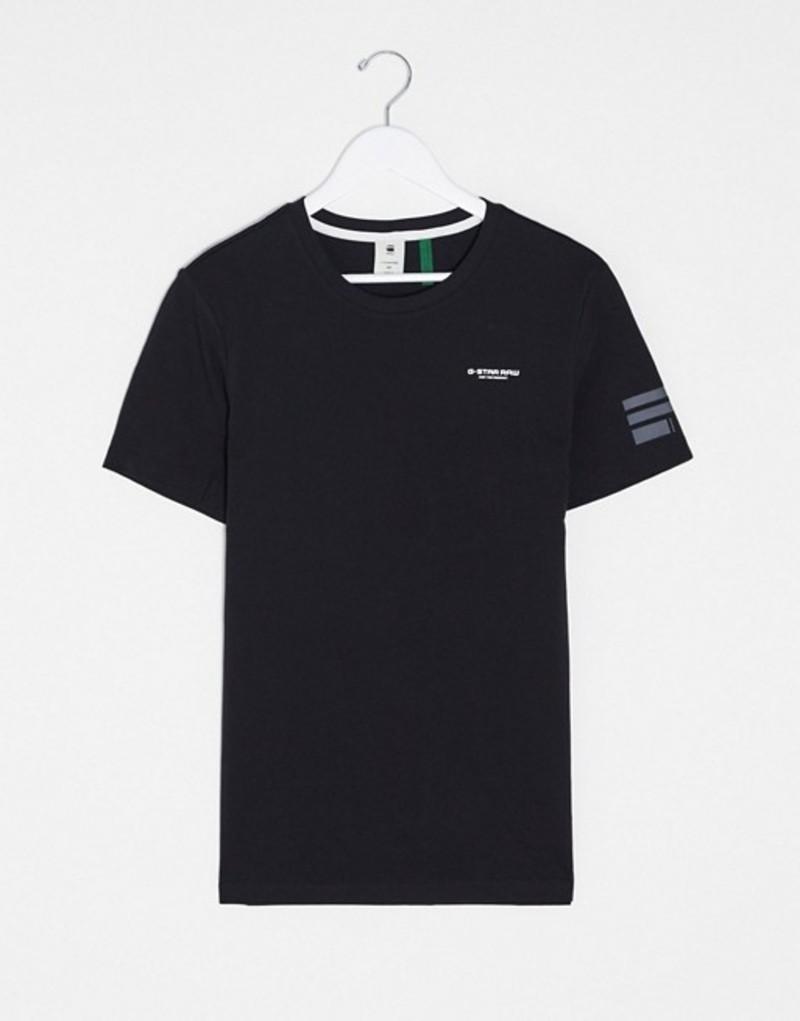 ジースター メンズ シャツ トップス G-Star chest logo t-shirt in black Black