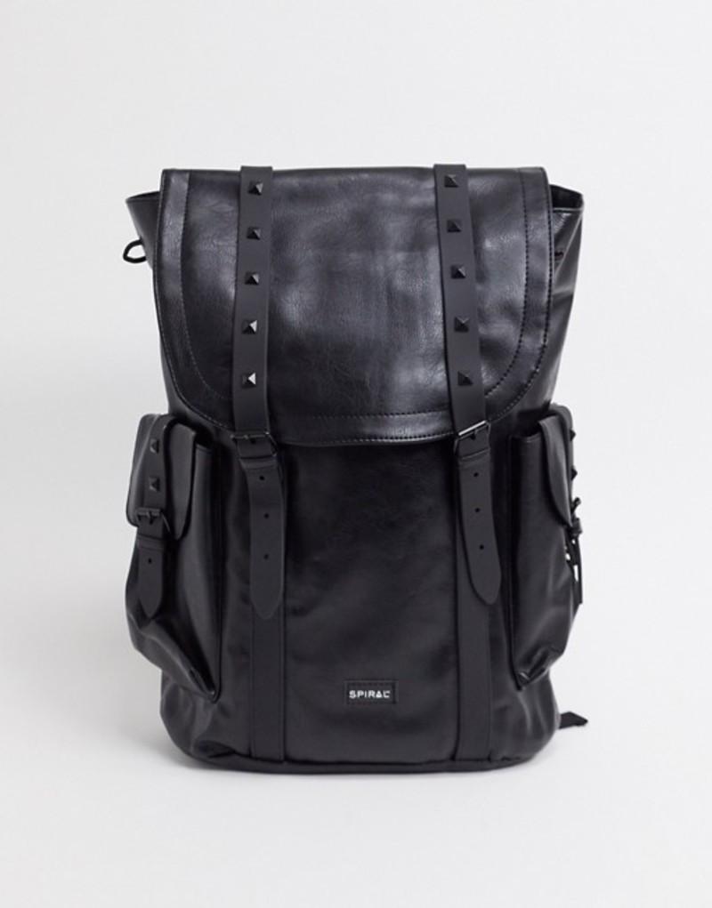 スパイラル メンズ バックパック・リュックサック バッグ Spiral transporter backpack in black Black