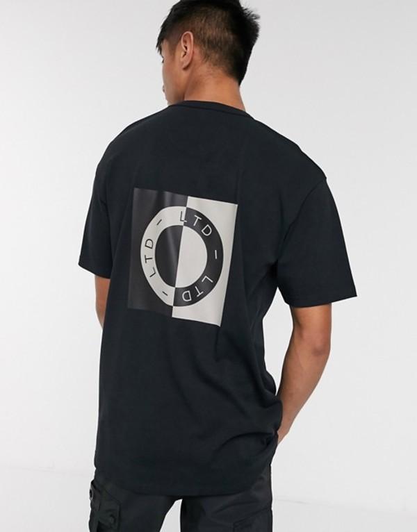 トップマン メンズ シャツ トップス Topman LTD t-shirt with circle print in black Black