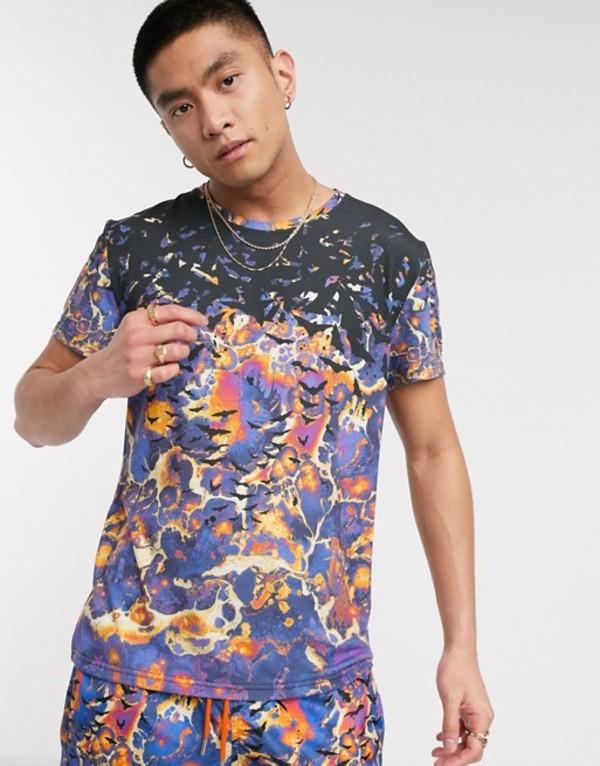 ブラッドブラザー メンズ シャツ トップス Blood Brother all over print t-shirt in multi Aop