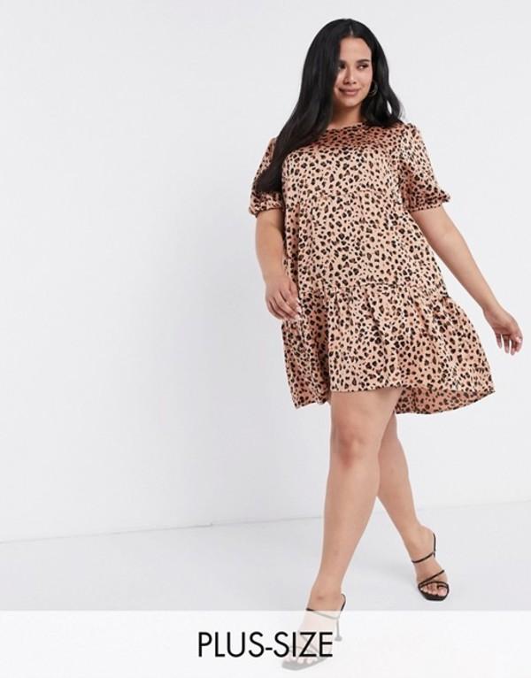 ミスガイデッド レディース ワンピース トップス Missguided Plus smock dress in leopard print Multi