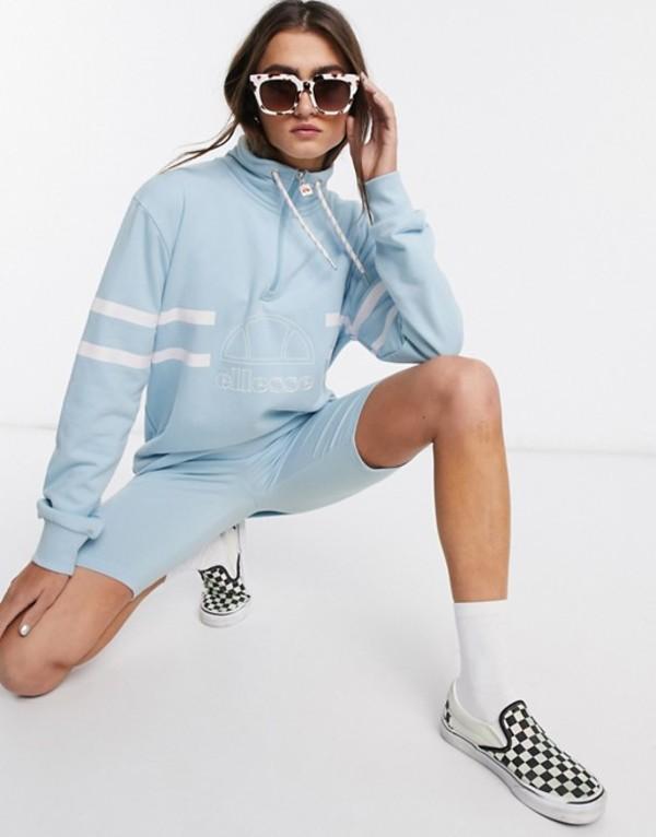 エレッセ レディース シャツ トップス Ellesse oversized sweatshirt with funnel neck two-piece Blue