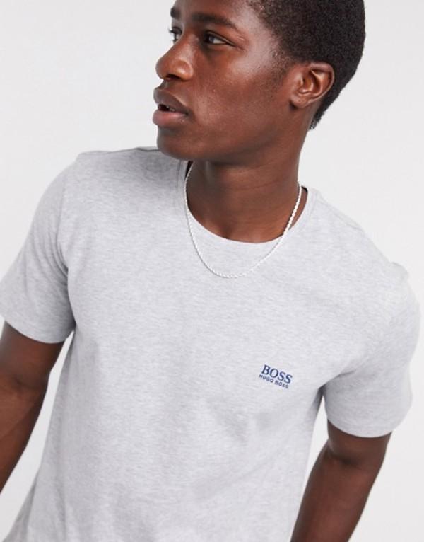 ボス メンズ シャツ トップス BOSS bodywear logo t-shirt in gray SUIT 4 Gray