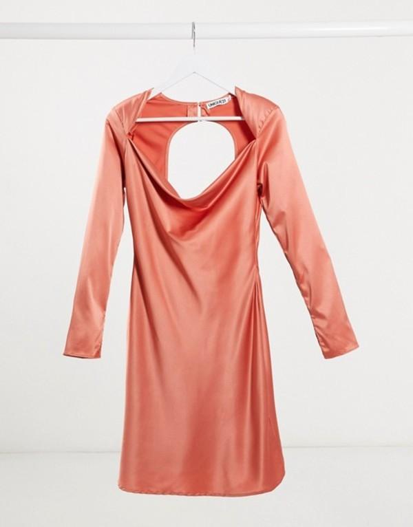 ユニークトゥエンティワン レディース ワンピース トップス Unique21 satin bias cut mini dress with cut out back in terracotta Teracotta