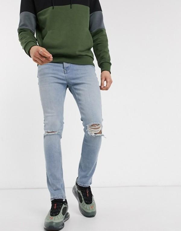 ボロンガロトレバー メンズ デニムパンツ ボトムス Bolongaro Trevor norris vintage indigo skinny jeans Blue