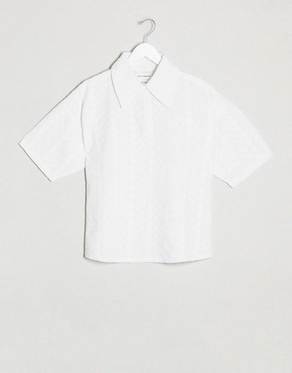 ネイティブユース レディース シャツ トップス Native Youth relaxed shirt in broderie two-piece White