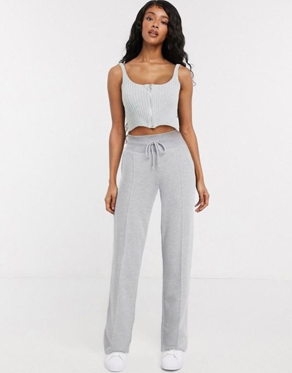 コルージョン レディース カジュアルパンツ ボトムス COLLUSION wide leg sweatpants in gray marl Gray:ReVida 店
