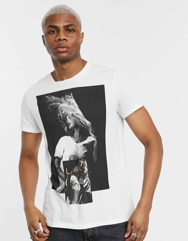 レリジョン メンズ シャツ トップス Religion graphic print t-shirt with back logo in white White