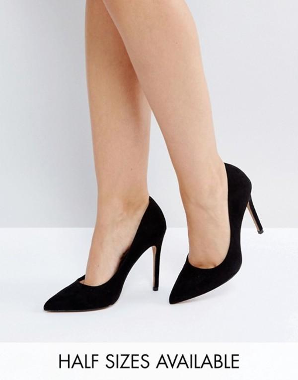 エイソス レディース ヒール シューズ ASOS DESIGN Paris pointed high heeled pumps in black Black